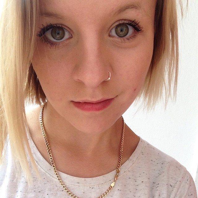 Skinny tattooed blonde girl nudes