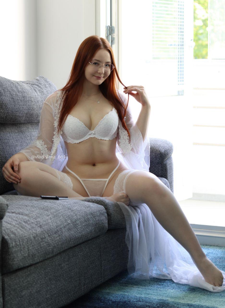 Hot ass girl Vladislava Shelygina posing in sexy lingerie